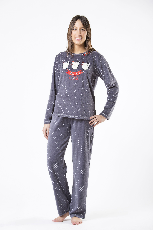 fa6fcf772feae pijama cue mujer woman piyama españa invierno winter sleep wear ropa dormir  noche polar tondosado