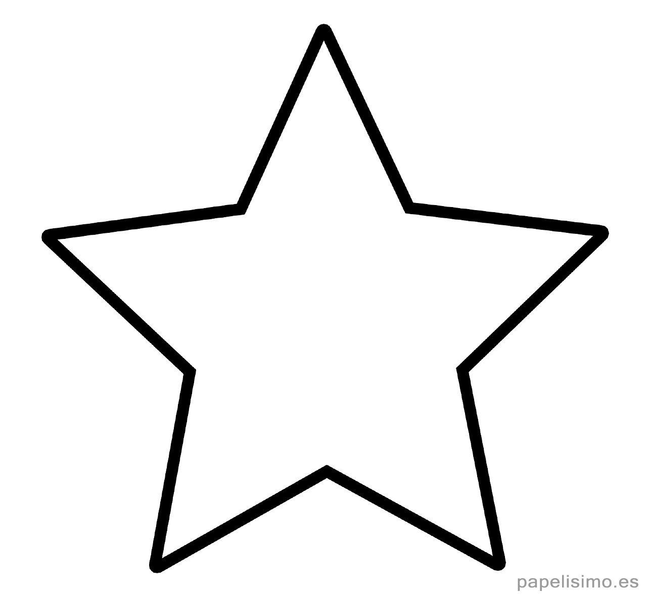 Plantilla Estrella 5 Puntas Clasica Imprimir Pintar Estencil