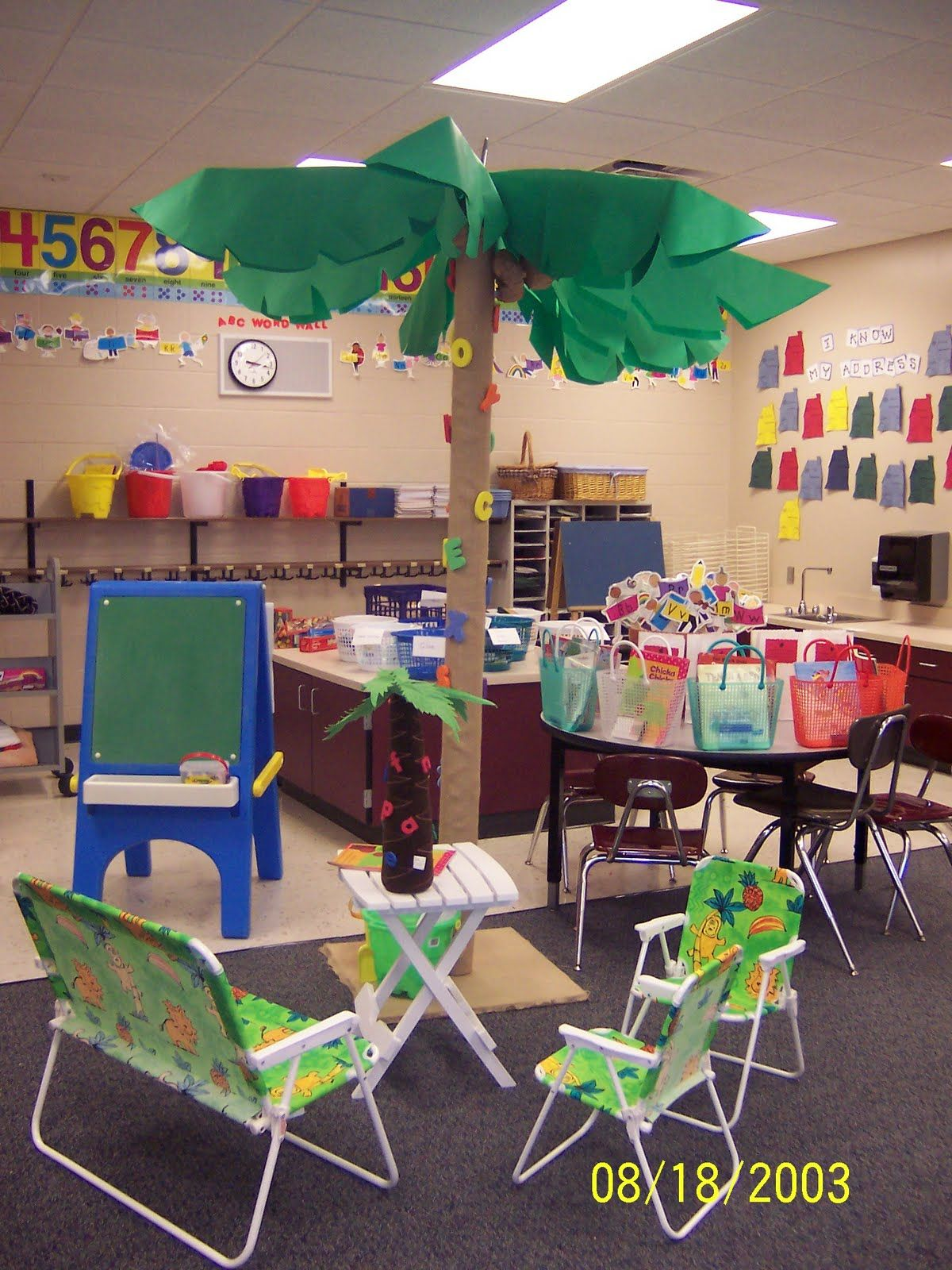 Summer Camp Classroom Decorations ~ Camp classroom clutter free tropical luau