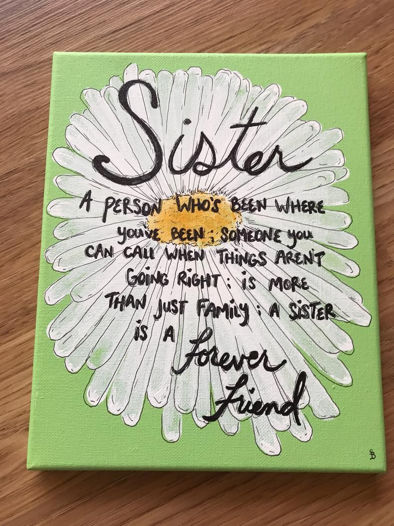 Sister Gift Ideas Gift For Sister Big Sister Gift Little Etsy In 2020 Canvas Quotes Sisters Wall Art Sister Gifts Diy
