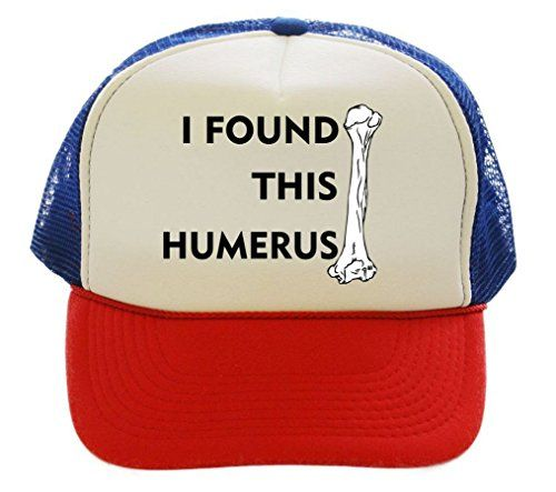 e53449b4bd2 I Found This Humerus Funny Trucker Hat Cap red white blue