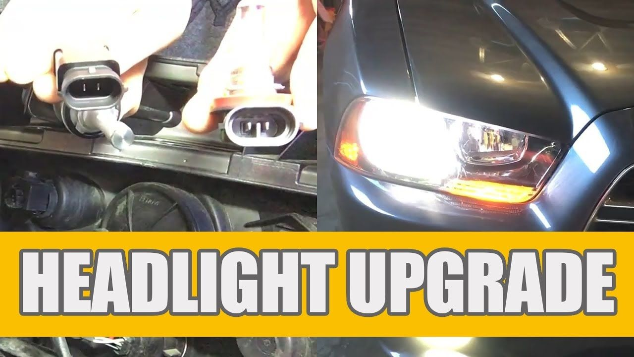 2011 2014 Dodge Charger Led Low Beam Headlight Bulbs Installation Headlight Upgrade Headlight Bulb Replacement Dodge Charger