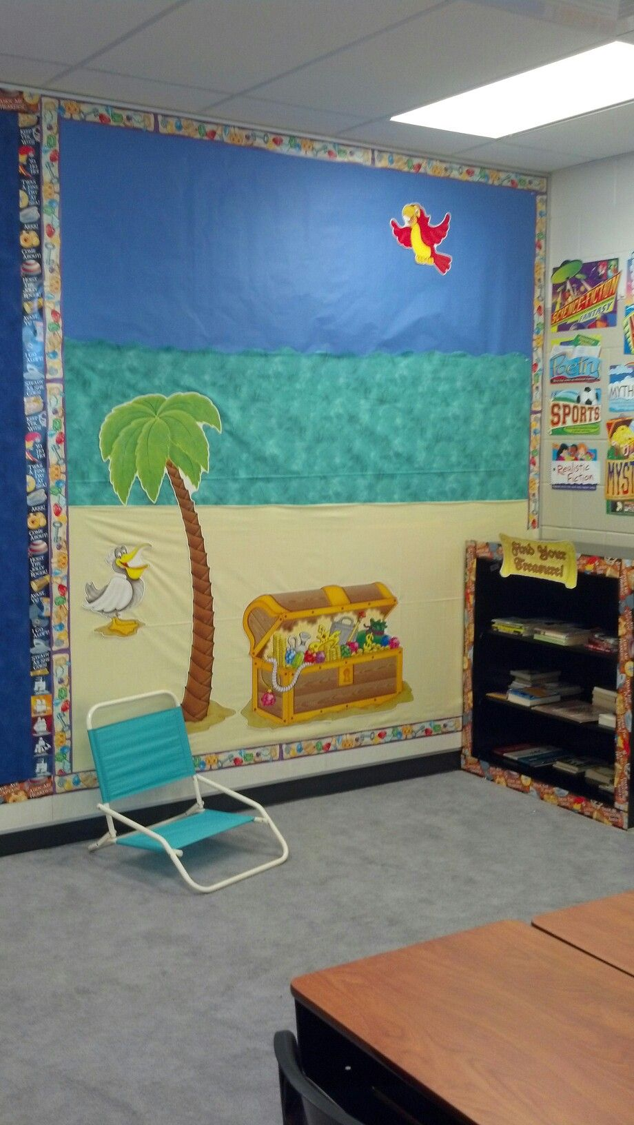 Classroom Beach Decor ~ Treasure island th grade classroom reading nook like
