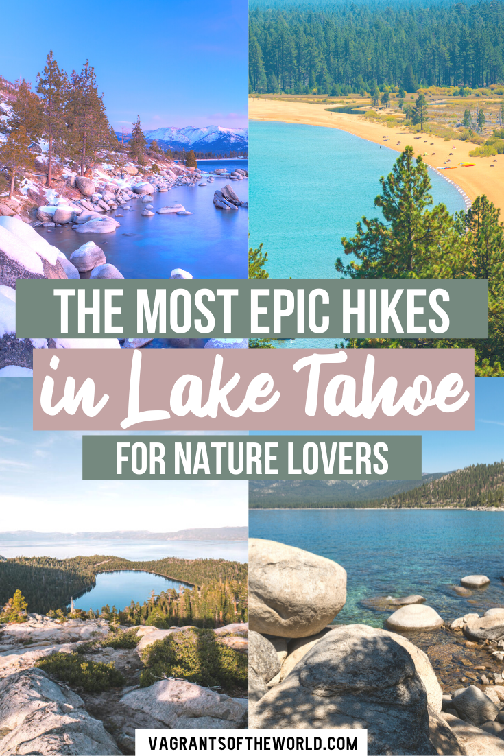 5 Gorgeous Lake Tahoe Hike to get Outdoors. With a range of great hiking trails for all levels, whether you're a casual hiker or an adventurous mountain climber, a trip to Lake Tahoe isn't complete without hiking.Some hikes offer amazing views of the turquoise lake, while others take you deep into the forest where you can reach fantastic lookouts.   Lake Tahoe Hikes   Hiking in Lake Tahoe   lake Tahoe easy hikes   Lake Tahoe walks  