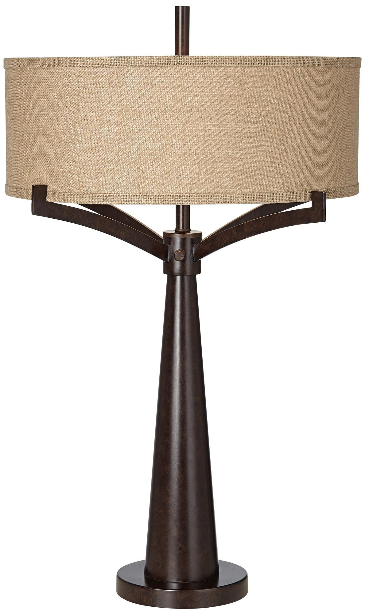 Tremont Industrial Bronze 2Light Table Lamp 4T410