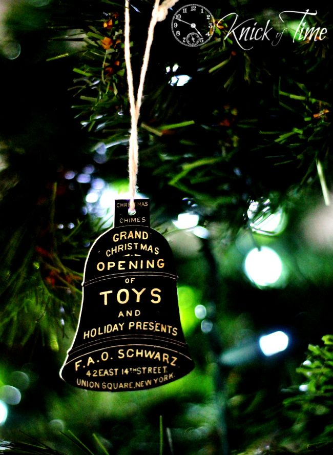 Christmas Bell Ornaments - 1800's Antique Advertisement - Tutorial from KnickofTime.net
