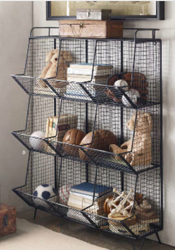 storage industrial restoration hardware- could this be found for less at a hardware store?