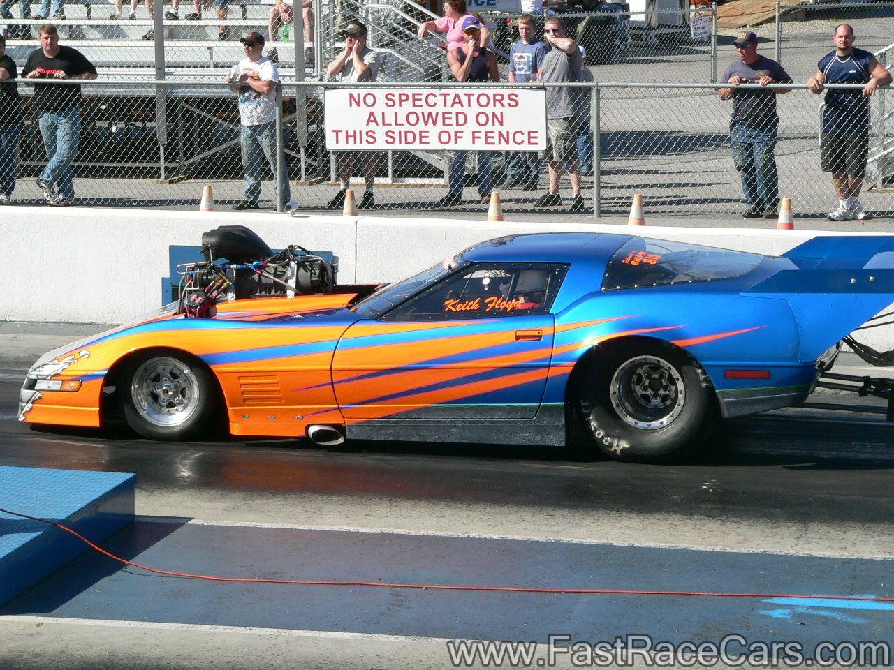 Drag racer cars zr1 corvette promod staged