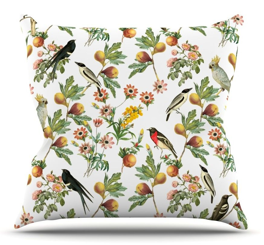 Bird Rapport by Debora Chodik Throw Pillow