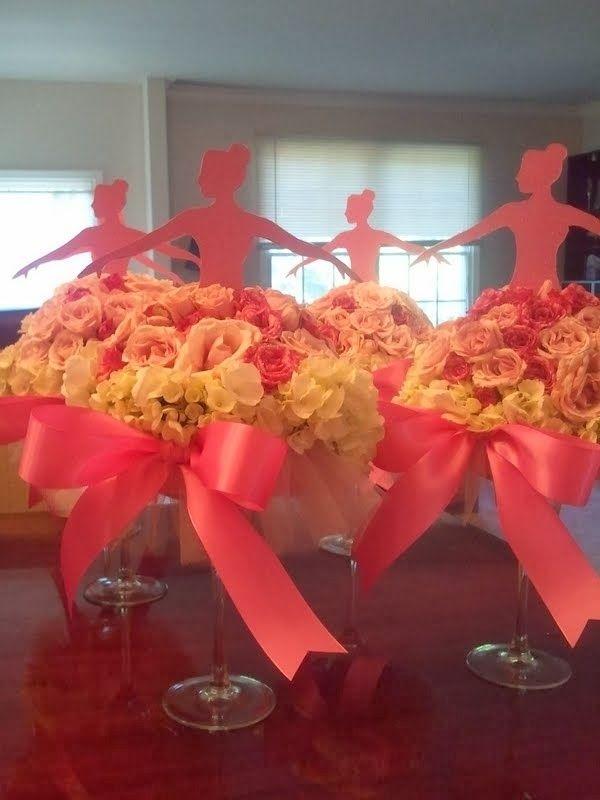 Centro de mesa para fiesta de 15 a os ballet princesas o - Decoracion acuarios baratos ...