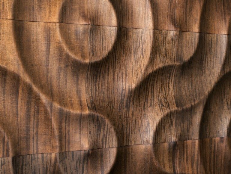 Panel de pared 3D modular de madera AMAZONAS by MOKO