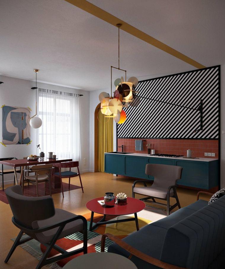 Pisos modernos decorados de forma muy elegante Interiors, Living