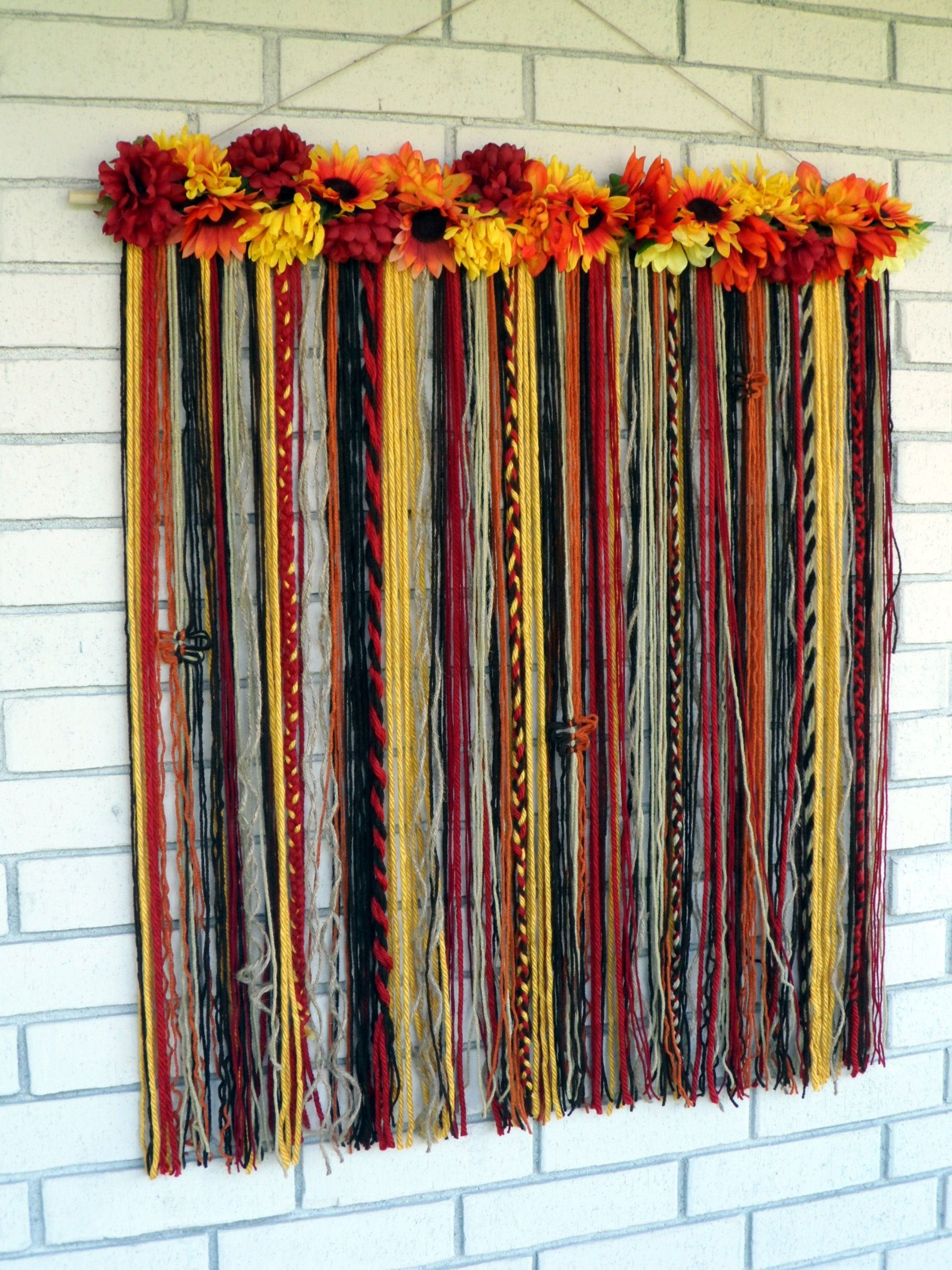 Wall Tapestry Yarn Wall Hanging Macrame Wall Hanging Fall Wall