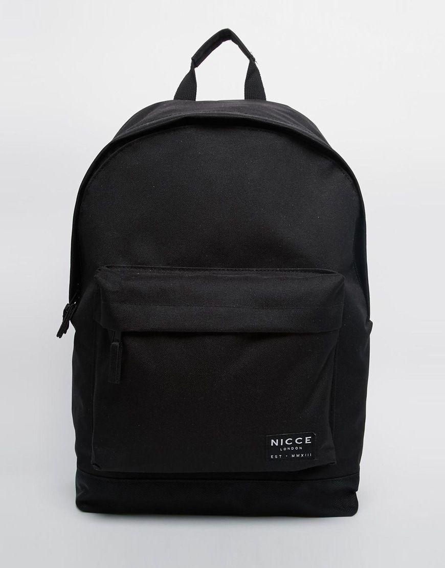 37e7dd29842522 Nicce+Logo+Backpack+In+Black