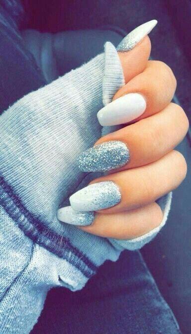 beautiful, christmas, nails
