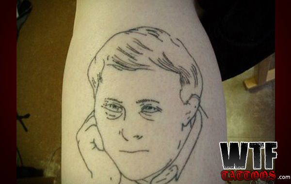 Line Drawing Face Tattoo : He descends from a long line of stick figures wtf tattoos