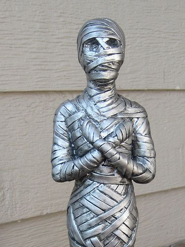 for sale new silver egyptian wrapped mummy resin statue halloween decoration figure prop