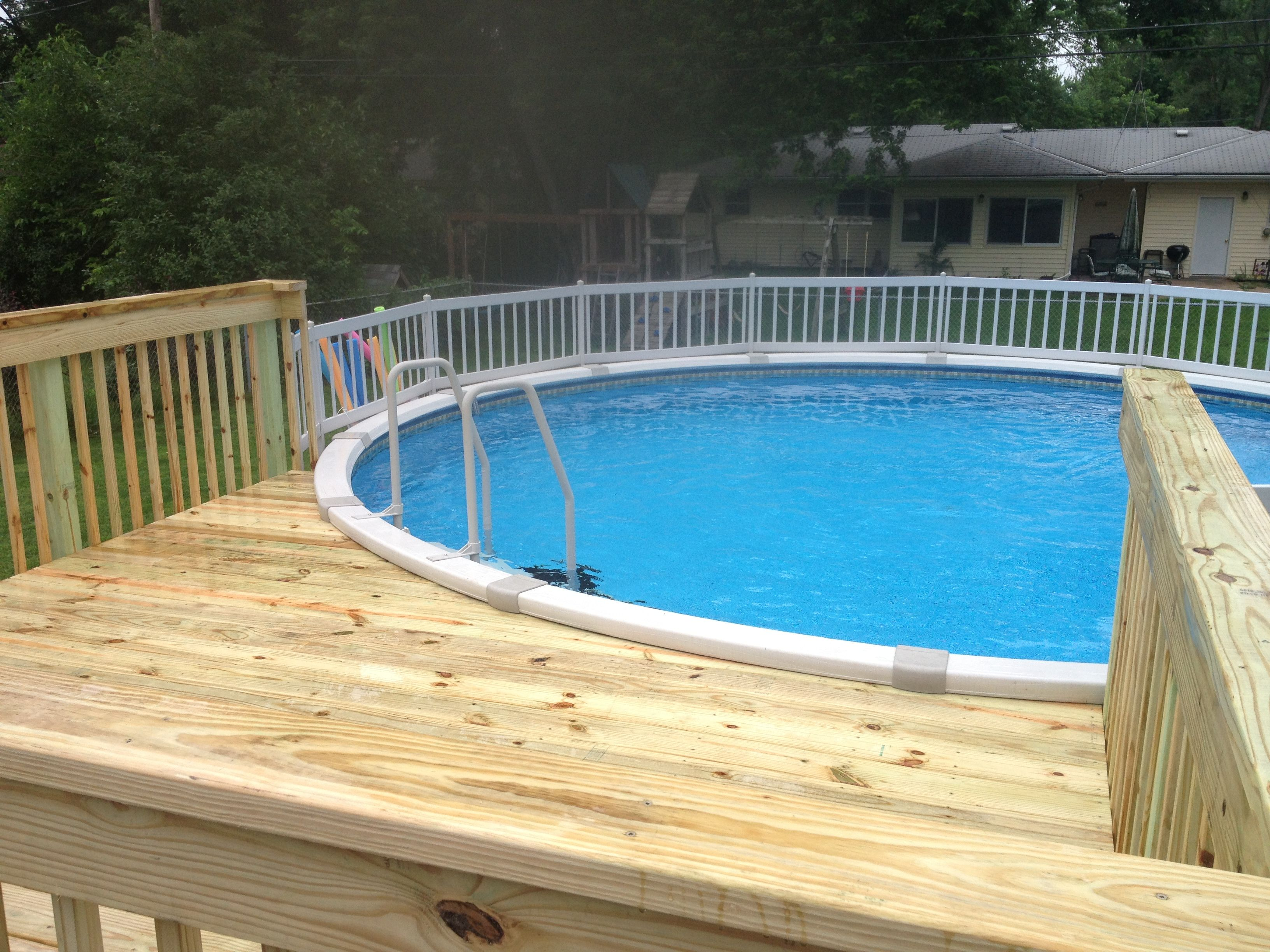 Decks for above ground pools home decor above ground