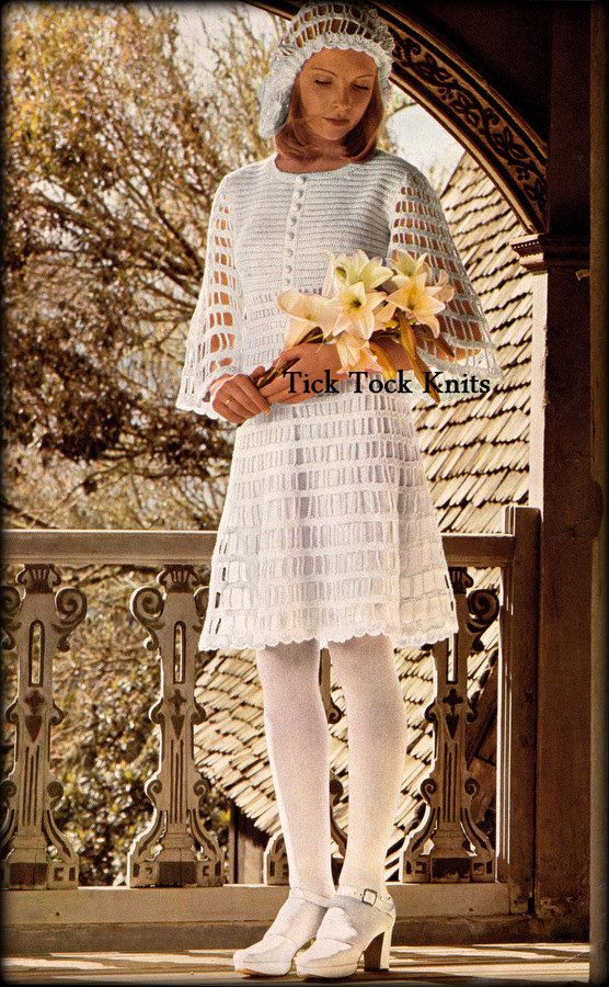 No.565 Crochet Dress Pattern PDF For Women Mod Dress