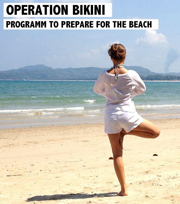 Opération Bikini – Programme pour les vacances. Petits exercices pour vous préparer pour la plage. Découvrez les exercices sur www.rosportlife.com