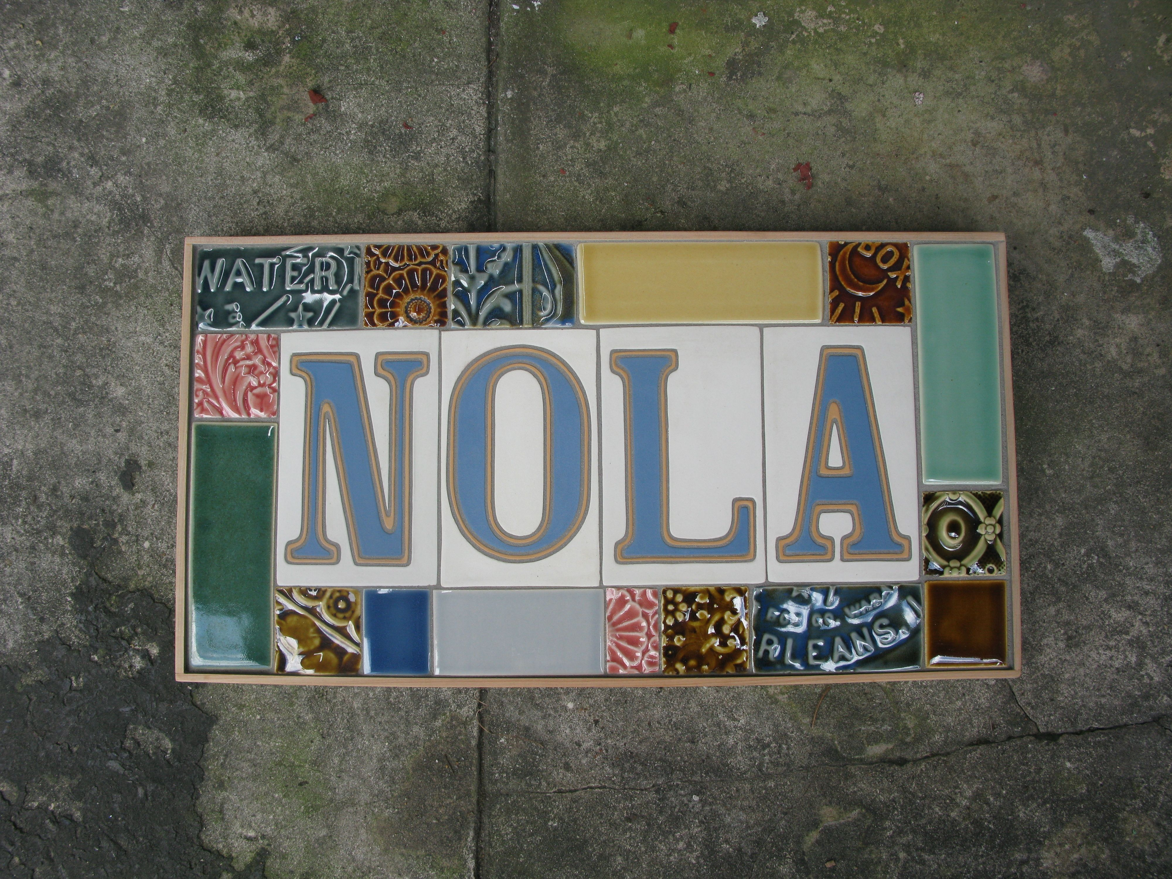 Derby Pottery Tile Magazine Street New Orleans Louisiana The Traditional Tiles By Letter