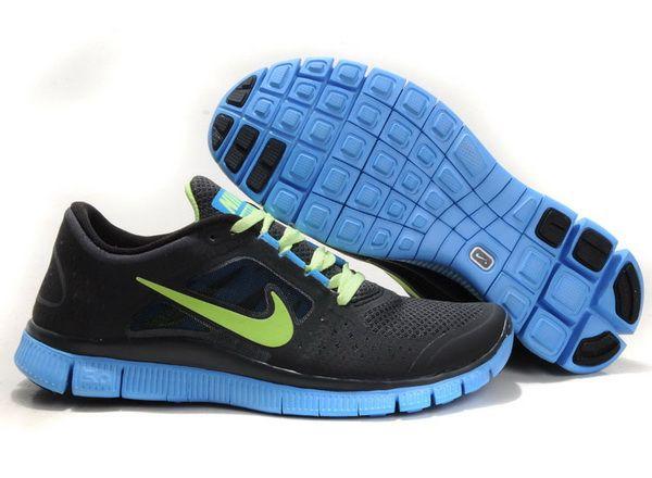 e67061b6fbfb3 Nike Free Run 3 Volt Blue Glow Deep Grey Men Shoes Sale  £56.31