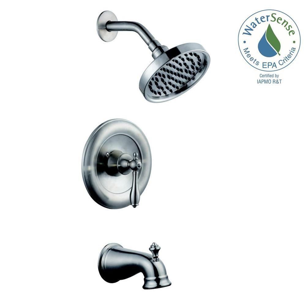 Glacier Bay Estates Watersense 1 Handle Tub And Shower Faucet In