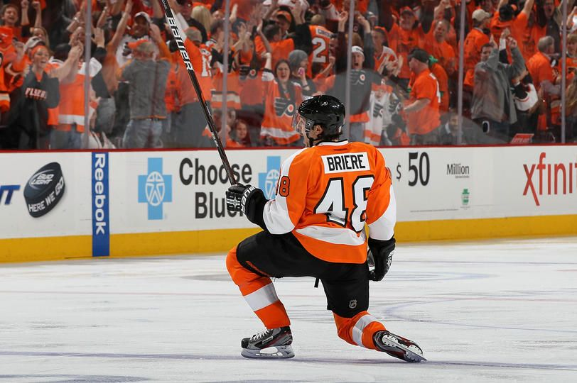 Briere Scores The Ot Game Winner Nhl Playoffs Philadelphia Flyers National Hockey League