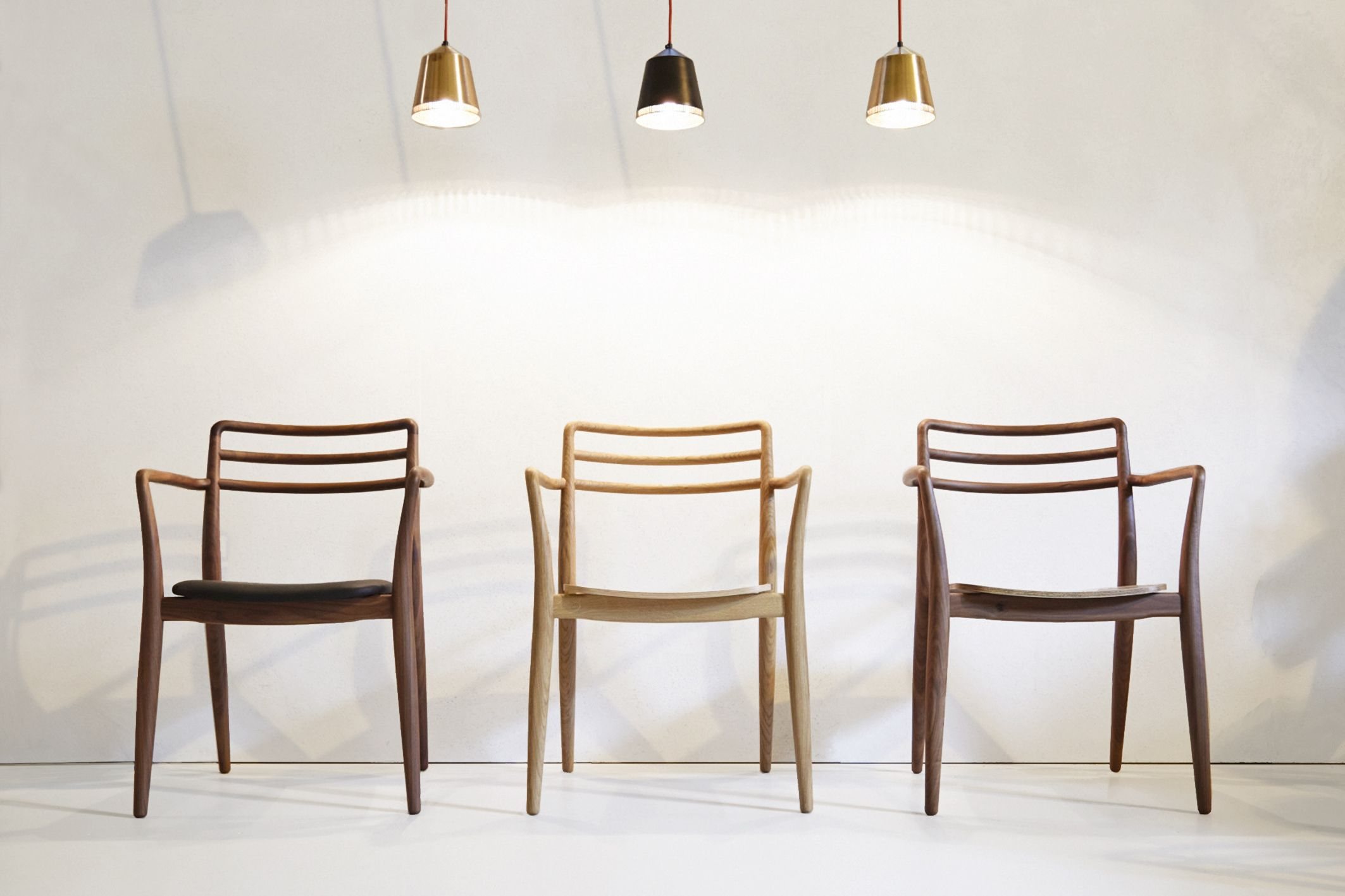 Valentine chairs made form olive english ash designed and