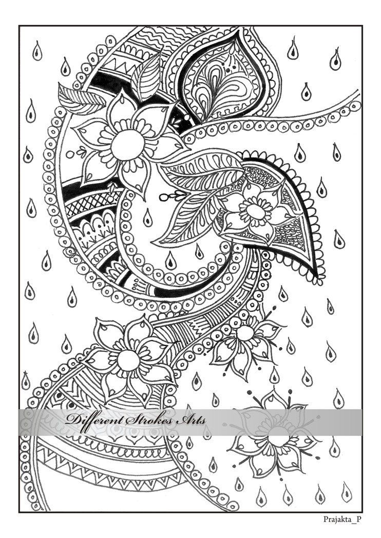 adult coloring pages henna art printable от DifferentStrokesArts ...