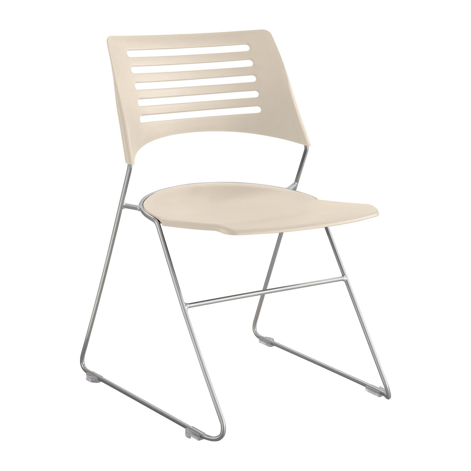 Pique Armless Office Stacking Chair (Set of 4)