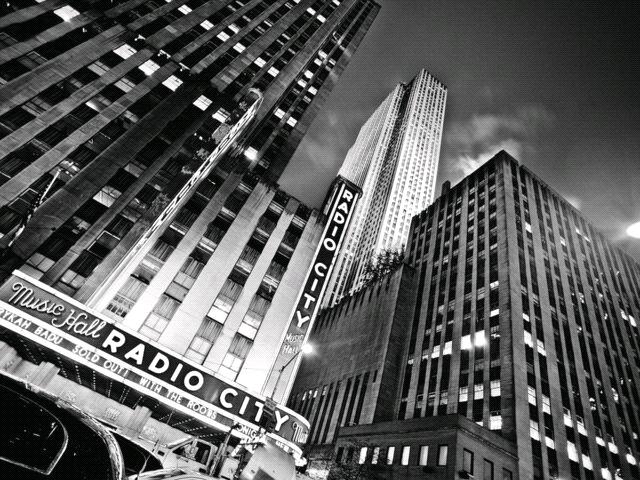 Radio City N Black N White Wallpaper New York City Photos Radio City Music Hall Travel And Tourism