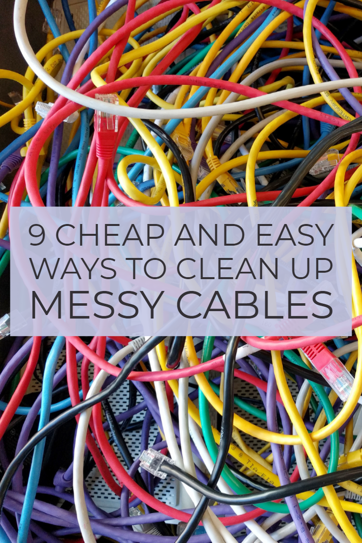 9 Cheap And Easy Tips For Cleaning Up Your Messy Cables Clean Up Cleaning Cables