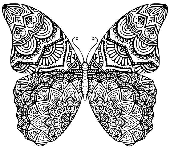 Dibujos De Mandalas De Mariposas