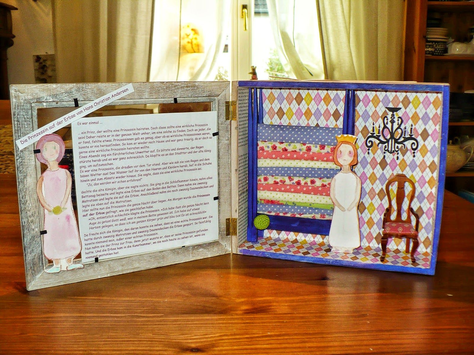 Prinzessin auf der erbse basteln  Das blaue Haus : Die Prinzessin auf der Erbse | Play With Fabric ...