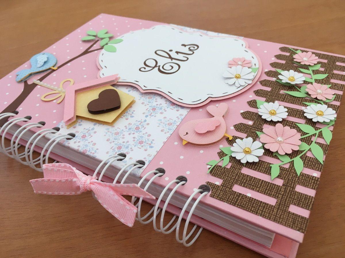 Caderno De Mensagens Jardim Encantado Cadernos Decorados