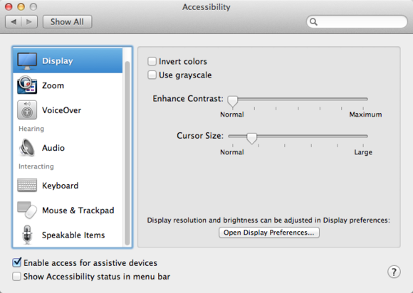 Five Overlooked Os X System Tweaks Macworld Display Resolution Invert Colors System