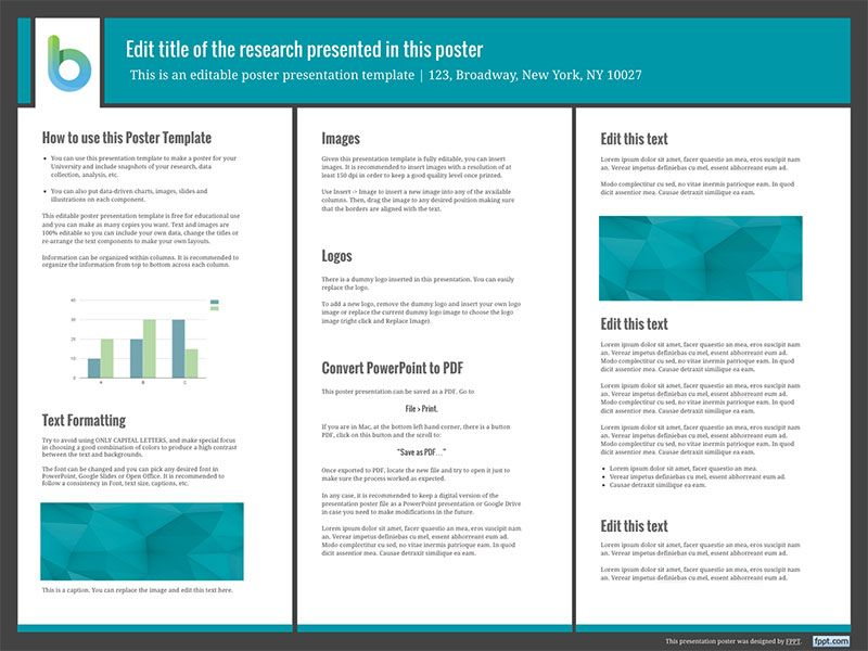 poster-presentation-template-48x36 Printables Pinterest - Science Powerpoint Template
