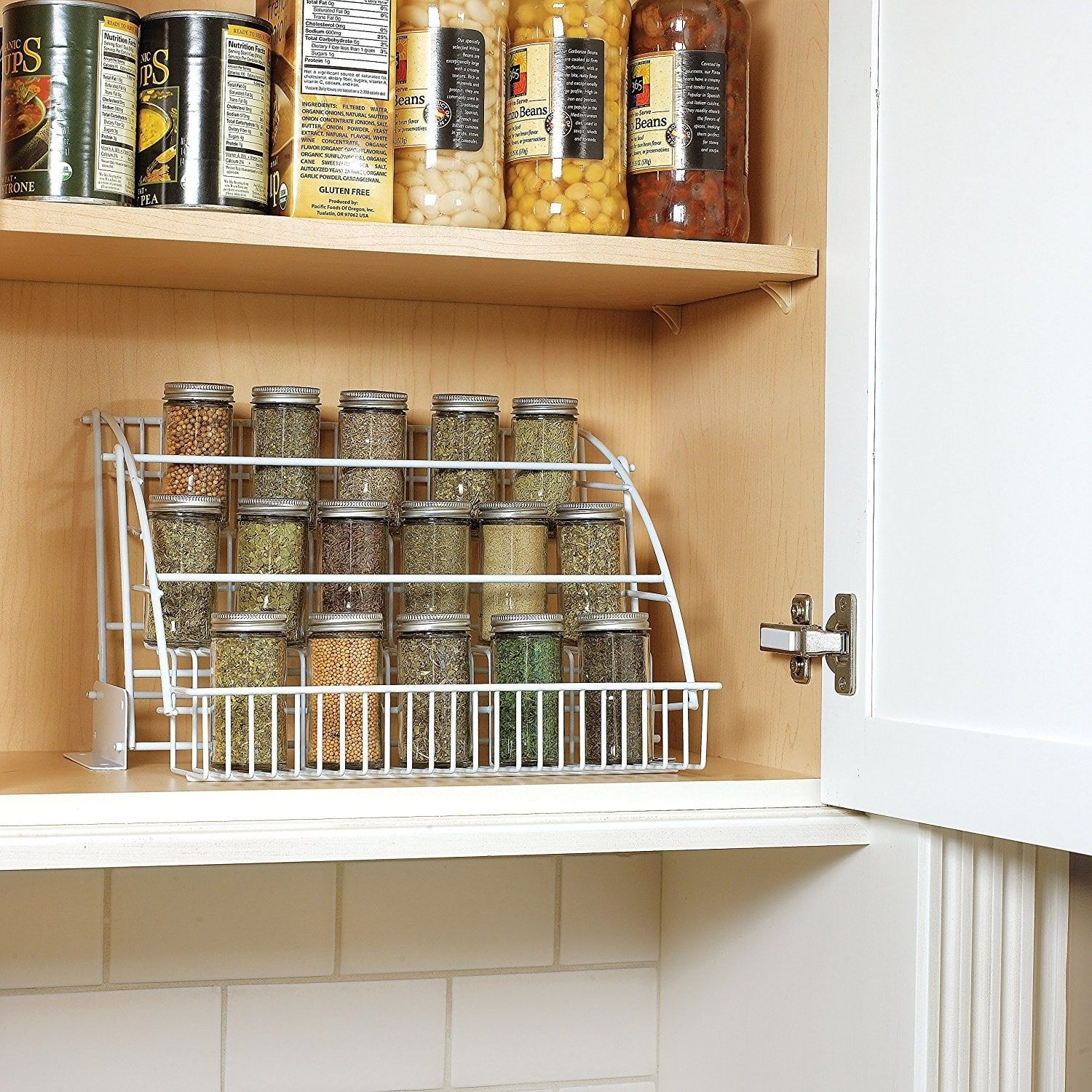 26 Of The Best Kitchen Storage And Organization Products On Amazon Pull Down Spice Rack Small Kitchen Organization Cool Kitchens