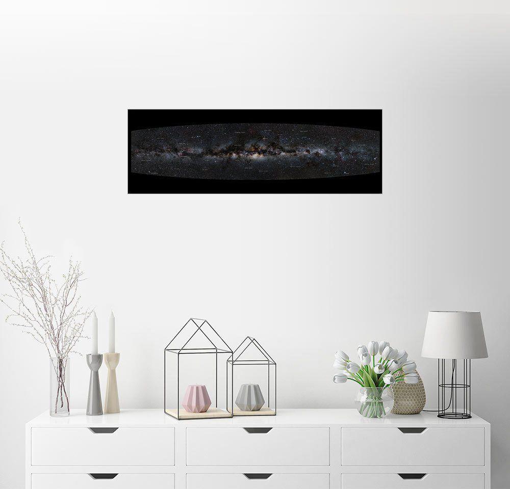 Wandbild Jan Hattenbach Milchstrasse Panorama Beschriftung Deutsch Lounge Wandbilder Und Bilder Dekoration