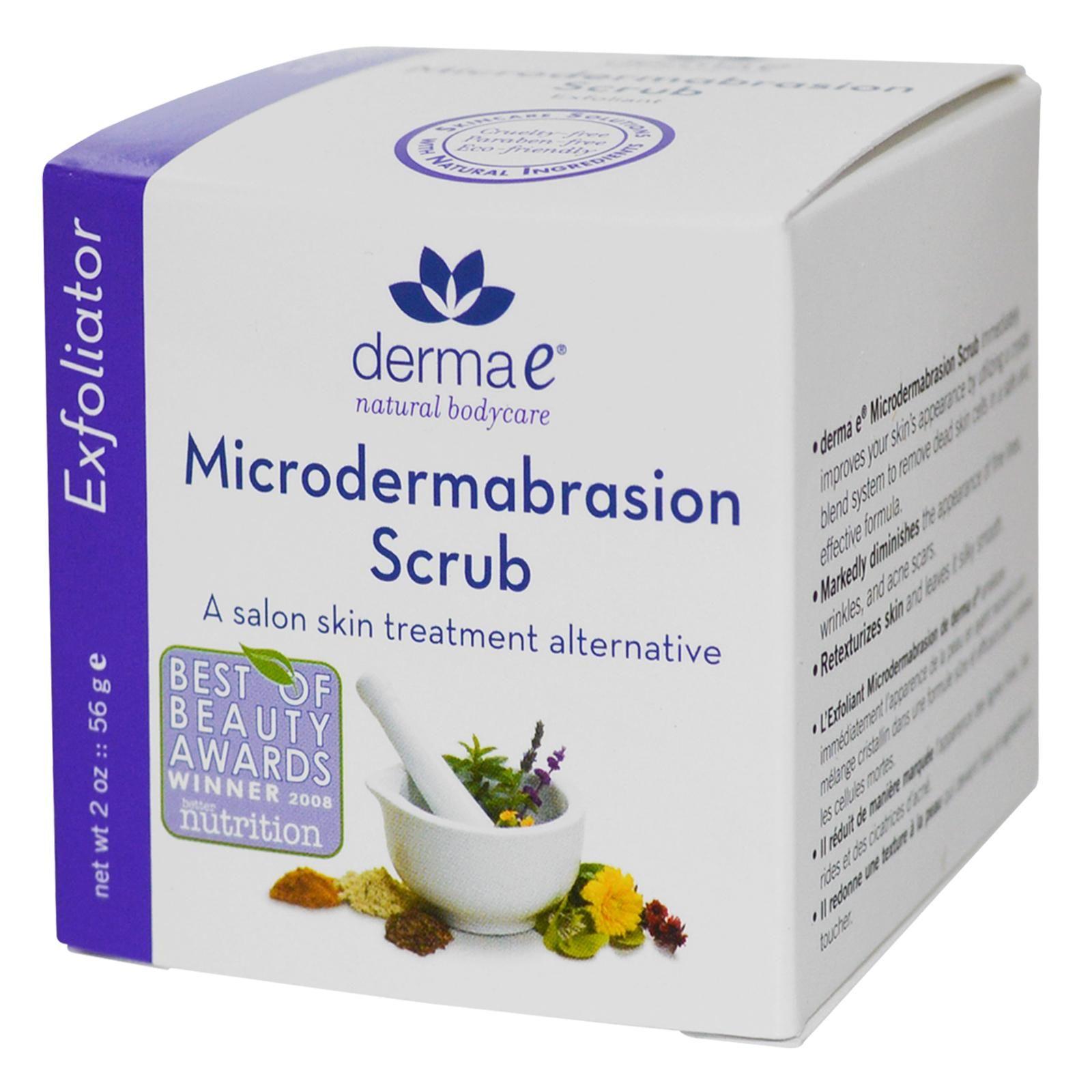 Derma E, Microdermabrasion Scrub, Exfoliator, 2 oz (56 g)  마이크로더마브레이션.