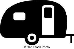 Image Result For Camper Clipart Black White