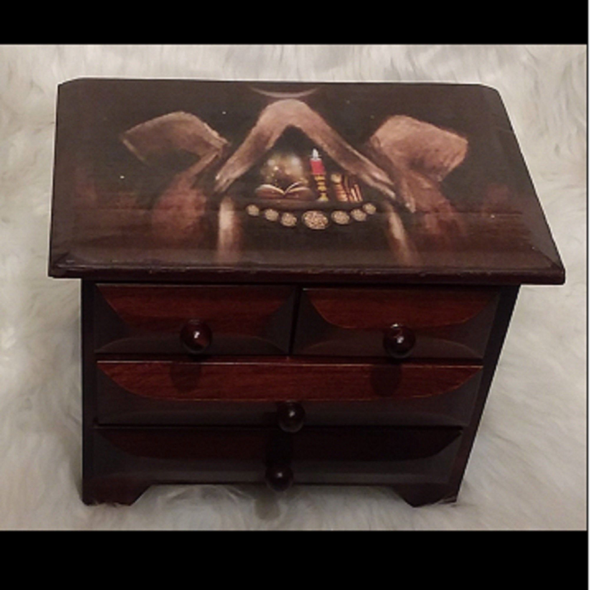 TRIPLE GODDESS ALTAR Chest - Witchcraft supply, Witchcraft