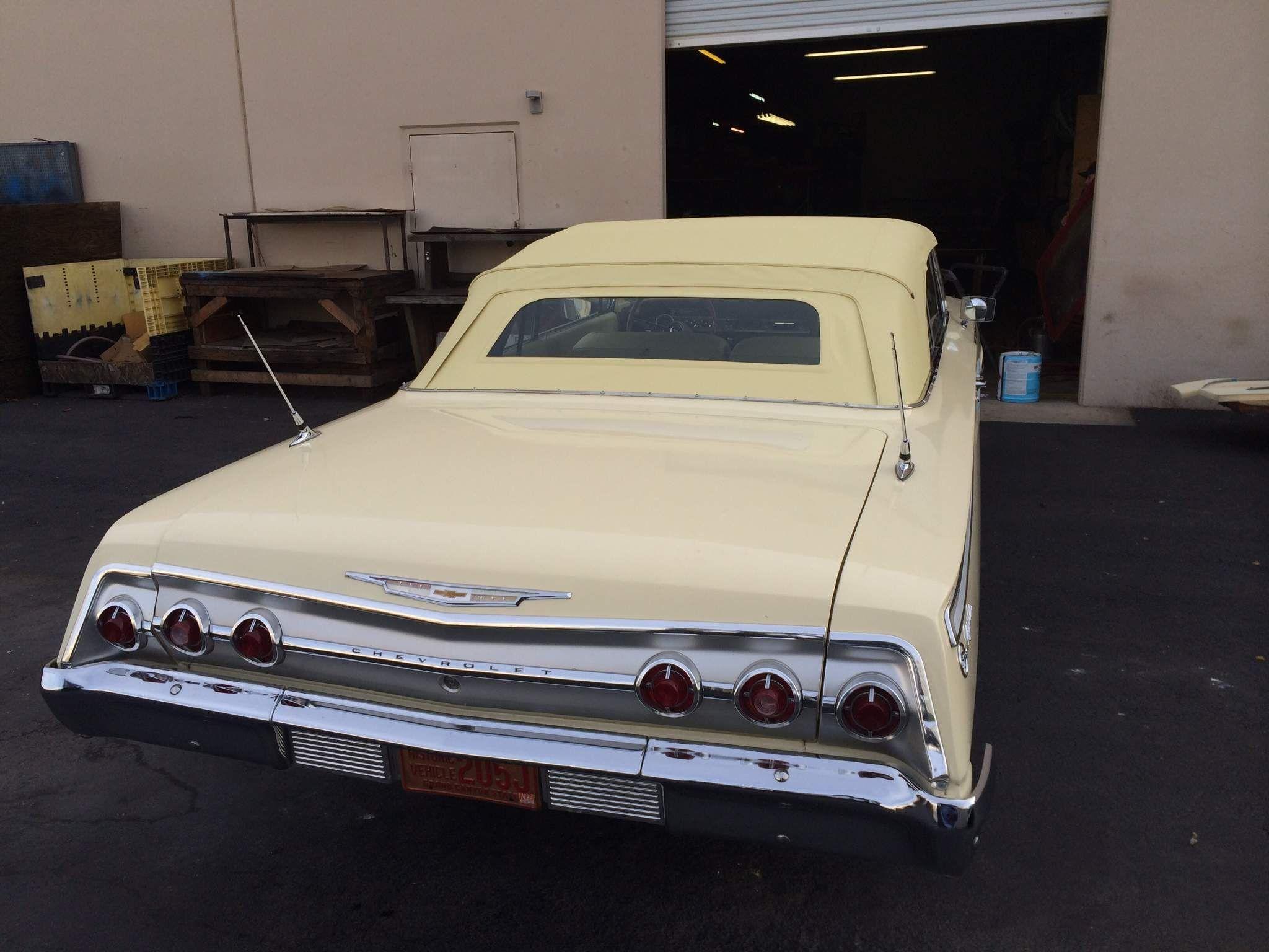 1962 Chevrolet Impala Gm Yellow Vinyl With Custom Non Original Glass Installed By Ciadella Interiors