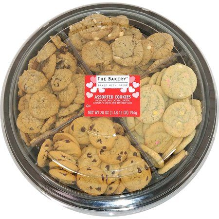 Valentine S Assorted Mini Cookie Platter 1 75lbs Walmart Com In 2020 Mini Cookies Mini Chocolate Chip Muffins Favorite Cookies