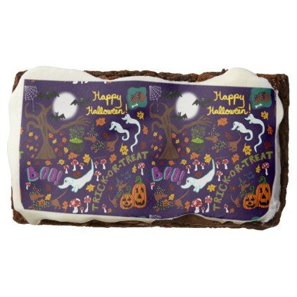 Diva Dachshund's Halloween Brownie | Zazzle.com #halloweenbrownies