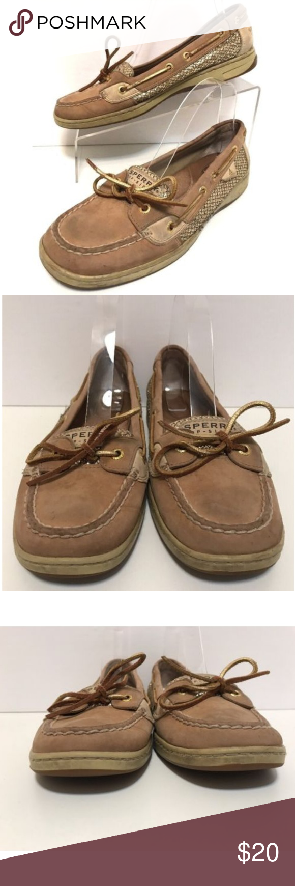 0c3d2ac76b2 Loafers · Slip On · Sperry Brown Gold Boat Deck Shoes Size 9.5 Sperry  Top-Siders Womens Angelfish Brown Gold