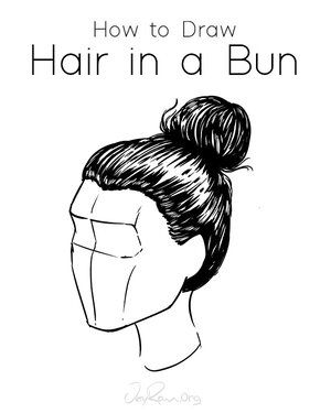 How to Draw Hair in a Bun: Easy Tutorial for Beginners  — JeyRam Art -   13 hair Drawing updo ideas