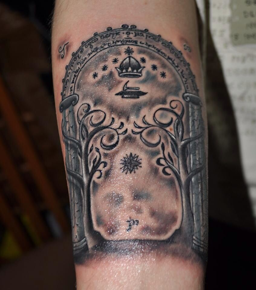 lord of the rings gates of moria tattoo pinterest. Black Bedroom Furniture Sets. Home Design Ideas