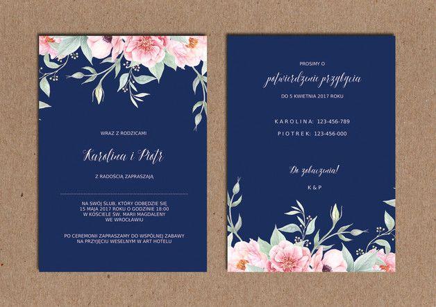 Zaproszenia ślubne Do Samodzielnego Druku Pdf ślub Wedding W